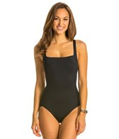 Jag Shibori Solids Multi Strap Back One Piece Swimsuit