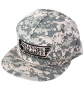 Channel Islands Men's Black Flag Snap Back