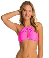 MINKPINK Shocking Pink High Neck Bikini Top