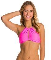 MINKPINK Shocking Pink High Neck Bikini Top