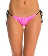 MINKPINK Shocking Pink Tie Side Bikini Bottom