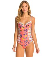 MINKPINK By The Sea Low Back One Piece Swimsuit