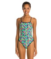 Turbo Origami Thin Strap One Piece Swimsuit