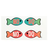 H2O Toos No DQ Fish Horizontal Temporary Tattoo