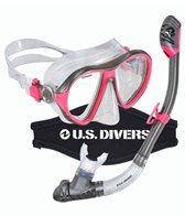 U.S. Divers Azul Purge LX Mask with Neoprene Mask Strap Cover / Tucson LX Snorkel