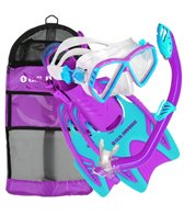U.S. Divers Regal Jr. Mask / Laguna Snorkel / Trigger Fins / Gear Bag