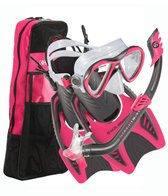 U.S. Divers Flare Jr. LX Mask / Piper Snorkel / Trigger Fins / Travel Bag