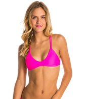 Stone Fox Swim Solid Indie Braided Halter Bikini Top