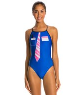 Splish All Business Thin Strap One Piece Swimsuit