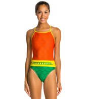 Splish Fishchick Thin Strap One Piece Swimsuit