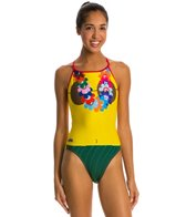 Splish Hula Thin Strap One Piece Swimsuit
