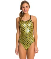 Splish Koi Glitter Thin Strap One Piece Swimsuit