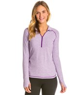 Lucy Women's Dashing Stripes Half Zip Top