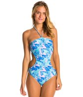 Motel Palm Glitch Bee Sting One Piece Swimsuit