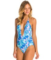 Motel Palm Glitch Sunny Day One Piece Swimsuit