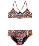 Billabong Girls' Sahara Sunset Fringe Halter Two Piece Bikini (4yrs-14yrs)