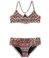 Billabong Girls' Sahara Sunset Fringe Halter Two Piece Bikini (4yrs-14yrs)