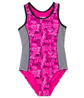 Roxy Girls' Logo Pop One Piece Swimsuit (7yrs-16yrs)