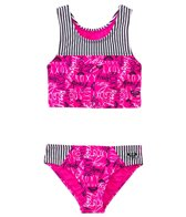 Roxy Girls' Logo Pop Tankini Two Piece (7yrs-16yrs)