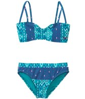 Roxy Girls' Gypsy Strappy Bandeau Two Piece (7yrs-16yrs)