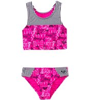 Roxy Girls Logo Pop Tankini Two Piece (2T-6X)