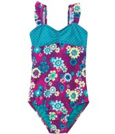 Roxy Girls' Sweet Floral One Piece Swimsuit (2T-6X)