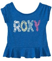 Roxy Girls' Sea S/S Ruffled Tee (2T-6X)