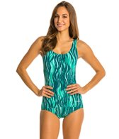 Dolfin Vader Conservative Scoop Back One Piece Swimsuit