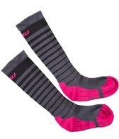 2XU Women's Striped Run Compression Socks