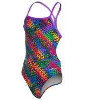 Dolfin Cyrus Youth Mesh Triangle Back One Piece Swimsuit