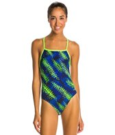 Dolfin Cyrus Mesh Triangle Back One Piece Swimsuit