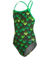 Dolfin Tracer Youth Mesh Triangle One Piece Swimsuit