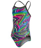Dolfin Winners Razzle Youth V-2 Back One Piece Swimsuit