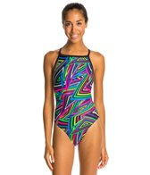 Dolfin Winners Razzle V-2 Back One Piece Swimsuit