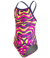 Dolfin Winners Mirage Youth V-2 Back One Piece Swimsuit