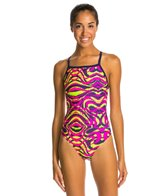 Dolfin Winners Mirage V-2 Back One Piece Swimsuit