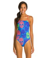 Dolfin Bellas Sugar Skulls Cross Back One Piece Swimsuit