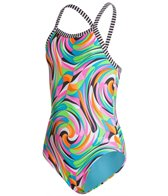Dolfin Little Dolfin Uglies Kandyland Toddlers One Piece Swimsuit (2T-6X)
