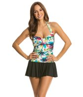 Eco Swim Beach Palm Bandeau Halter Swimdress