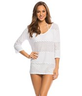 Eco Swim Solid Spliced V-Neck Cover Up Tunic