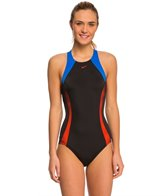 Nike Women's Color Surge Crossback Tank One Piece Swimsuit