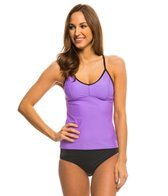 Speedo Women's Solid Strappy Tankini Top