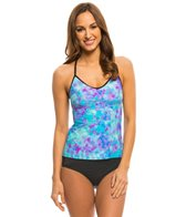 Speedo Women's Print Strappy Tankini Top