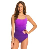Speedo Women's Ombre Shirred One Piece Swimsuit