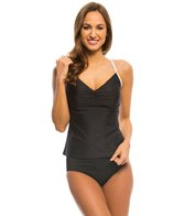 Speedo Women's Solid Color Block Strappy Tankini
