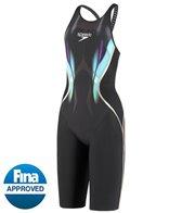 Speedo Limited Edition Women's Printed LZR Racer X Open Back Kneeskin Tech Suit Swimsuit