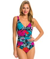 Penbrooke Eastern Exotic Twist Bodice One Piece Swimsuit