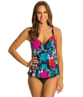 Penbrooke Eastern Exotic Triple Tier Fauxkini One Piece Swimsuit