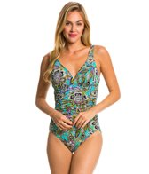 Penbrooke Gypsy Shirred Front One Piece Swimsuit