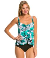 Penbrooke Pizzazz Ruffle Bottom Tankini Top